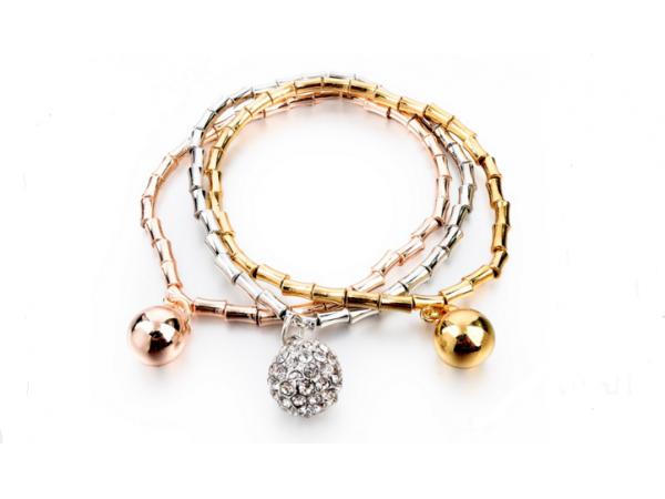 B122 Tri metal bracelet