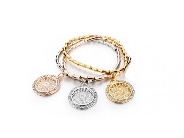 B135 Tri Metal Bracelet