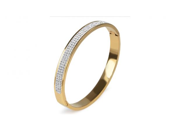 B152 Gold hinged bracelet.