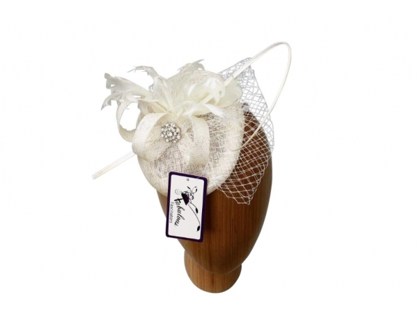Bailey cream Fascinator