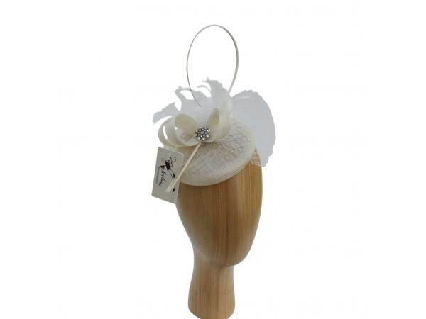 Bailey cream Fascinator