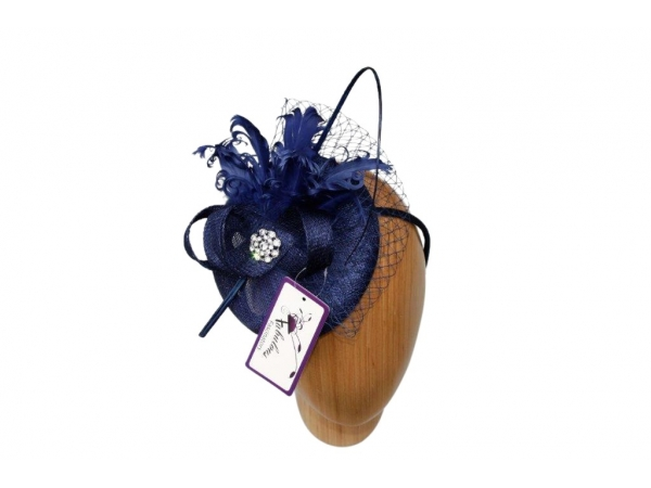 Bailey Navy Fascinator