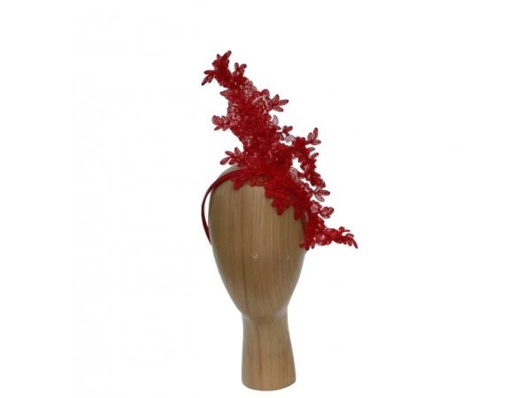 Camilla Red Fascinator