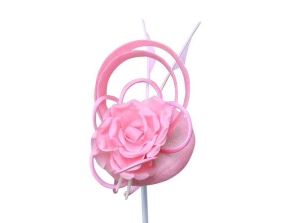 Darcy pink fascinator