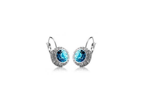 E198bL  Quality crystal earring