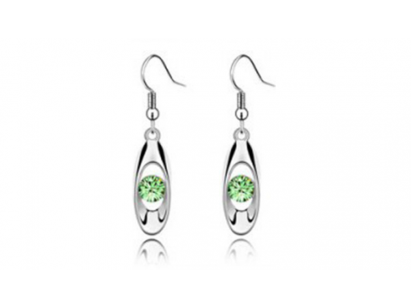 E231gn Silver & crystal earring