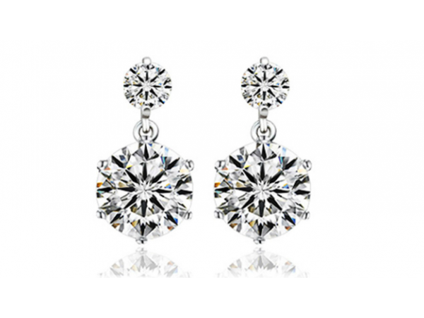 E412 Small Crystal drop earring