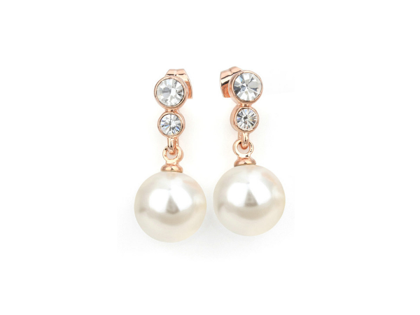 E413 Rose gold & pearl earring