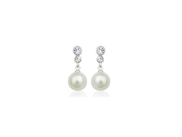 E413s Silver & pearl earring