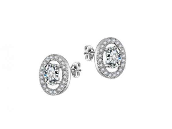 E440c Clear Crystal Stud Earring