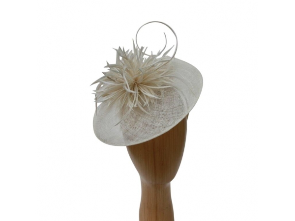 Eleanor Cream Fascinator