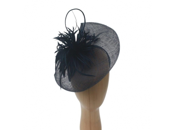 Eleanor Navy Fascinator