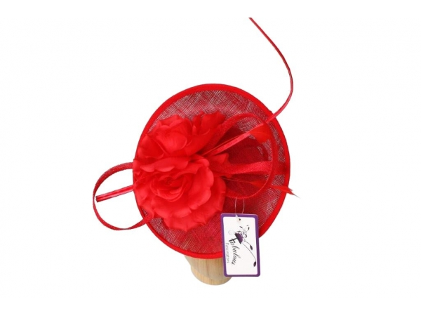 Emma Red fascinator