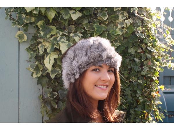 Fur Headband grey