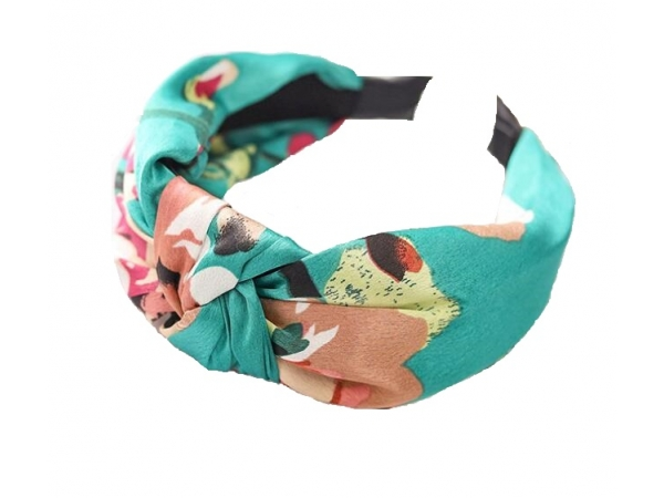 Floral Hair Band Turquoise