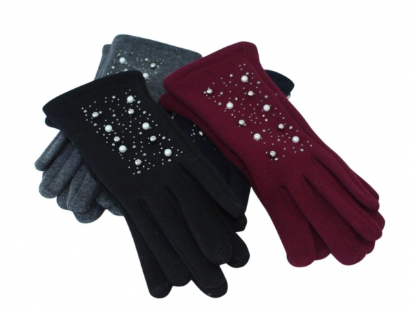 G- Pearl winter gloves. 12pk asstd colours