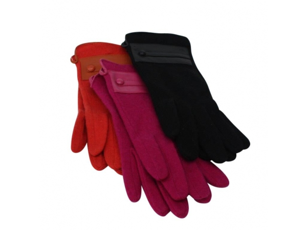 GL-22 Winter Wool Glove:  12 pack: 4/fuchsia, 4/orange, 4/black.