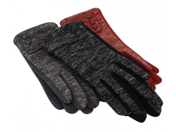 GL-55 Wool Winter Glove:  12 pack: 4/black, 4/red, 4/grey.