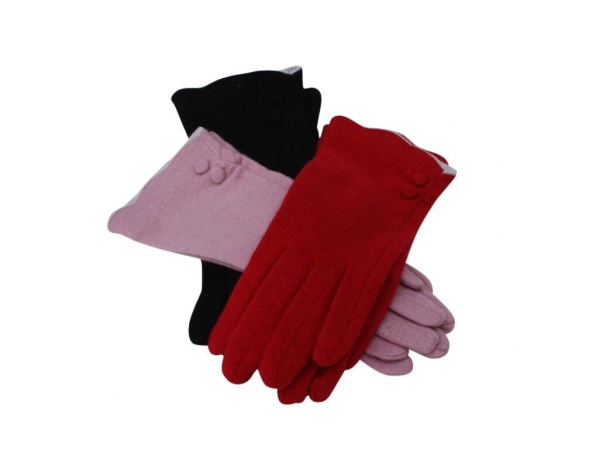 GL-66 Winter Wool Glove:  12 pack: 4/red, 4/pink, 4/black.