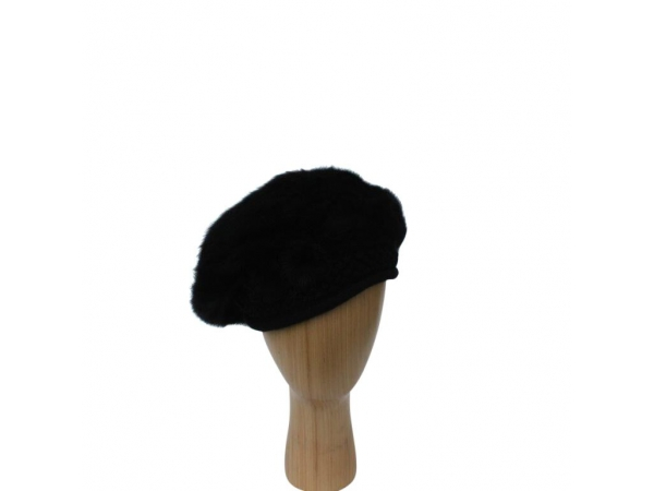 H-005 Black Beret Winter Hat