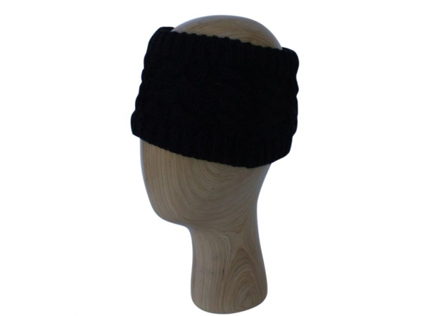 HB001 Black Wool Headband