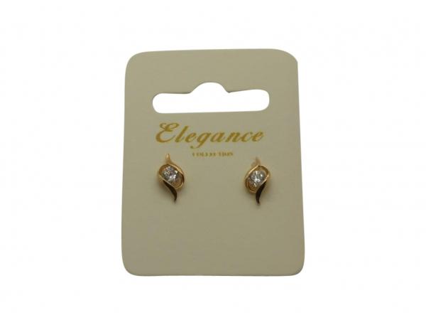 E142g Gold C.Z. earring