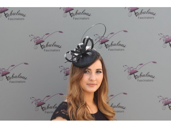Holly Black Fascinator