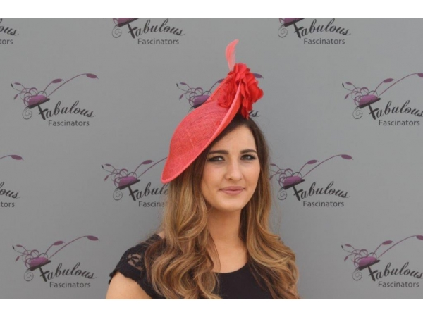 Heidi Burnt fascinator