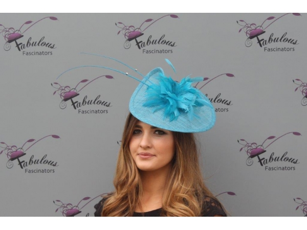 Kathy blue fascinator