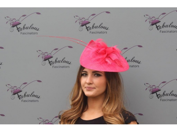 Kathy Cerise fascinator