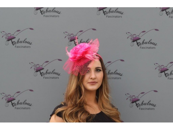 Lilly Cerise fascinator