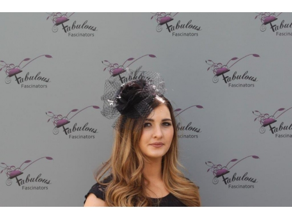 Lilly Black fascinator
