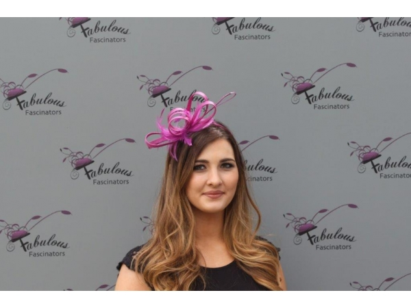 Alice Purple fascinator