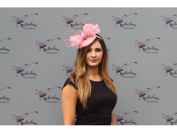 Shirley Pink Fascinator