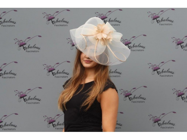 Leah Champagne fascinator