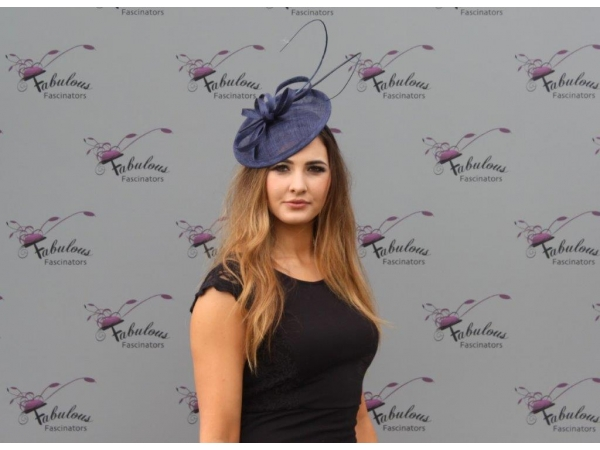 Jenna Navy fascinator