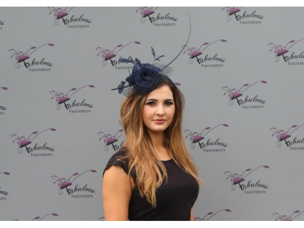 Faith Navy Fascinator