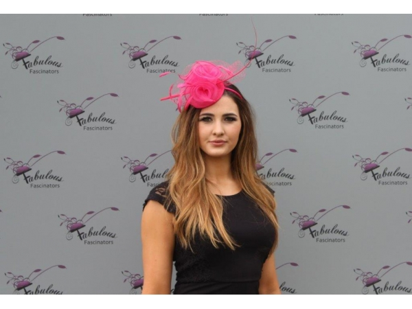 Faith Cerise Fascinator