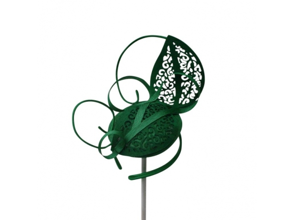 Lacey Green Fascinator.