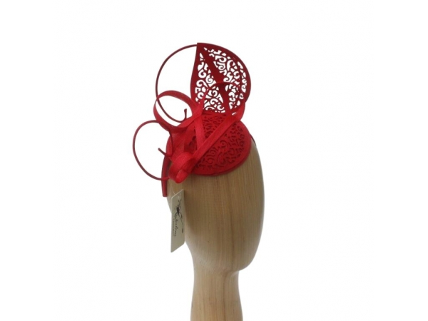 Lacey Red Fascinator.