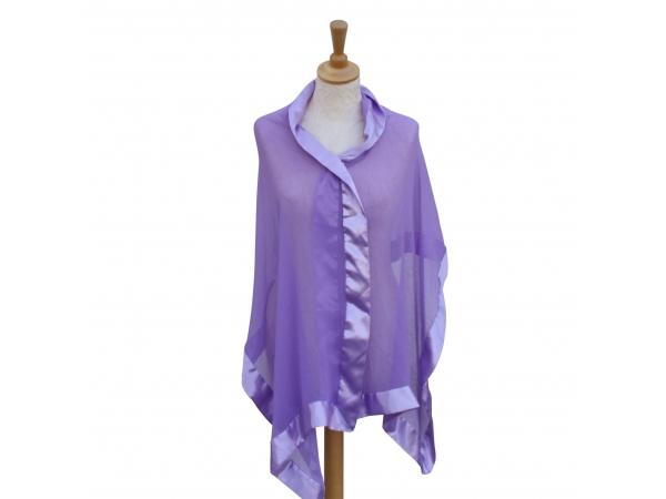 Lilac silk wrap