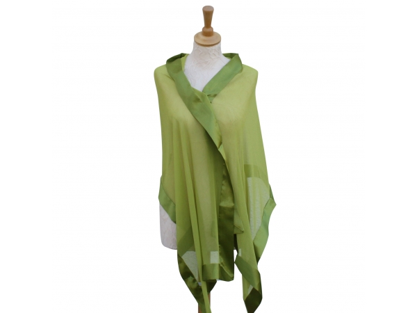 Lime silk scarf
