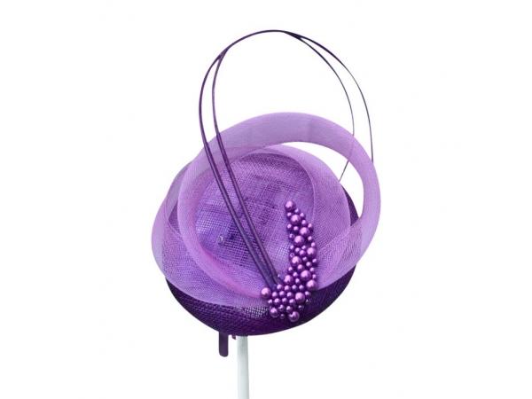 Linda Purple Fascinator