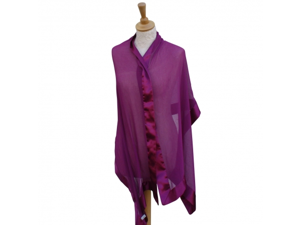 Magenta silk wrap