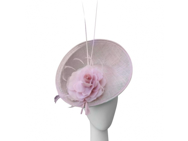 Maggie Baby pink Fascinator