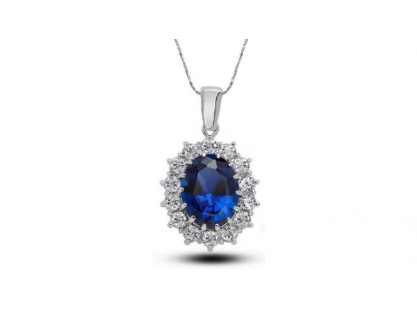N400 Navy crystal pendant