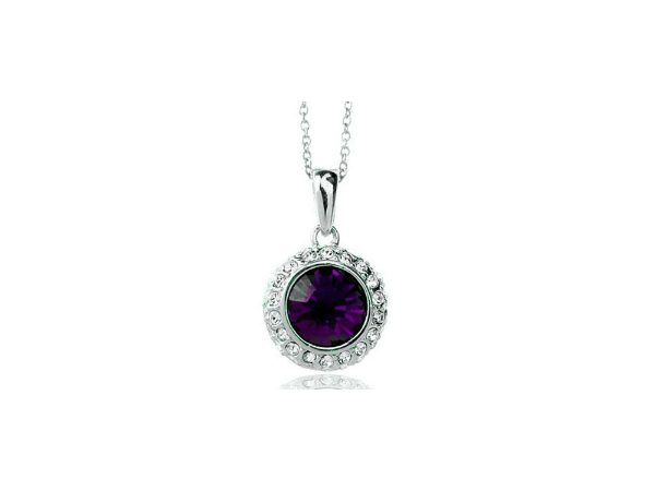 N248pl Purple crystal pendant