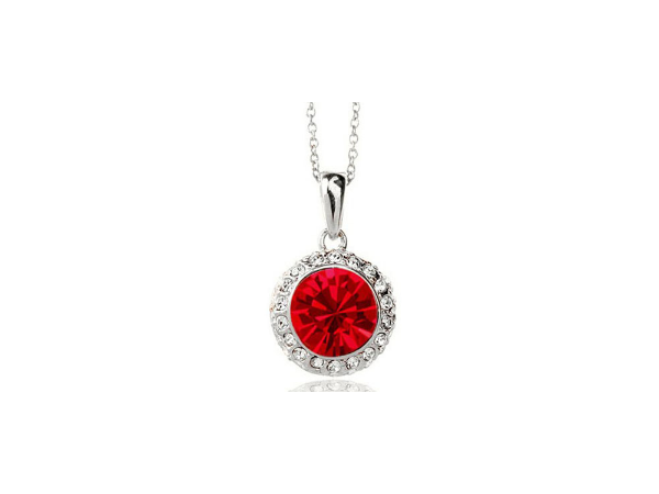 N248r Red crystal pendant