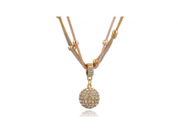 N311 Tri metal necklace