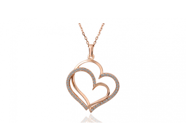 N403 Rose gold heart